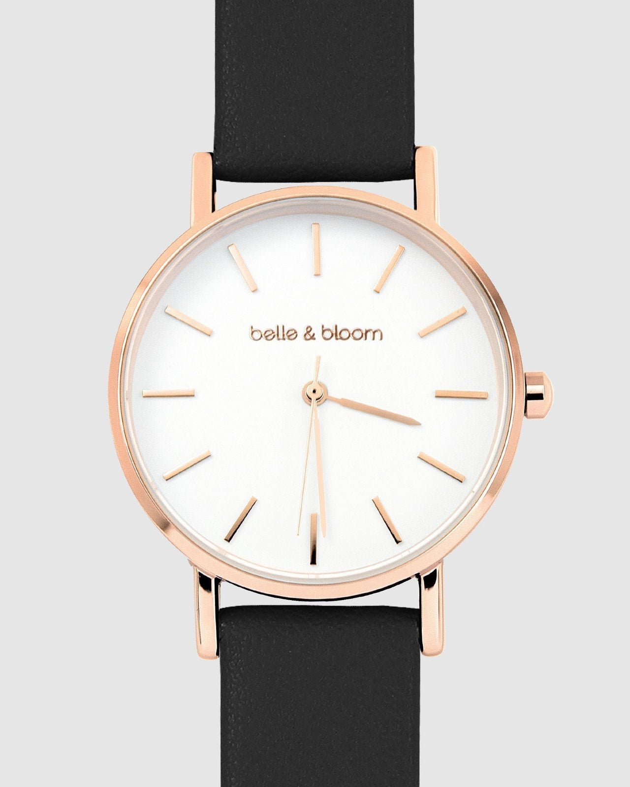 Belle and Bloom: Lafayette Love Classic Watch - Rose Gold / Black