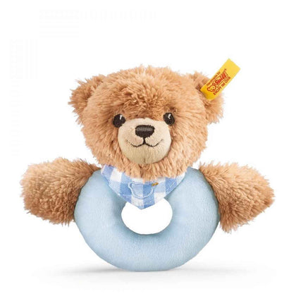 Steiff: Sleep Well Bear Grip Toy with Rattle - Blue