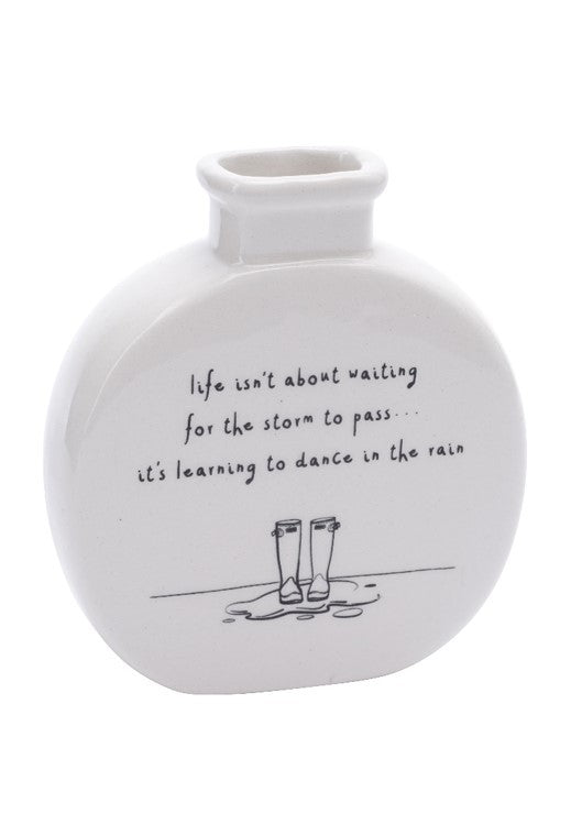 Sent & Meant Life Isn'T About..Bud Vase