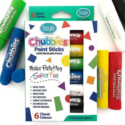 Boyle: Chubbies Paint Sticks Set (6) - Classic