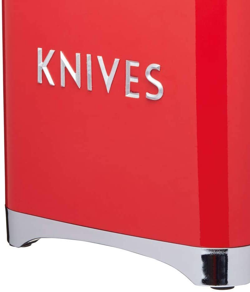 KitchenCraft: Lovello 5pc Knife Block Set - Red