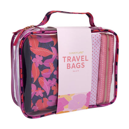 Sunnylife: Large Travel Bag Set - Wild Posy (Set of 4)