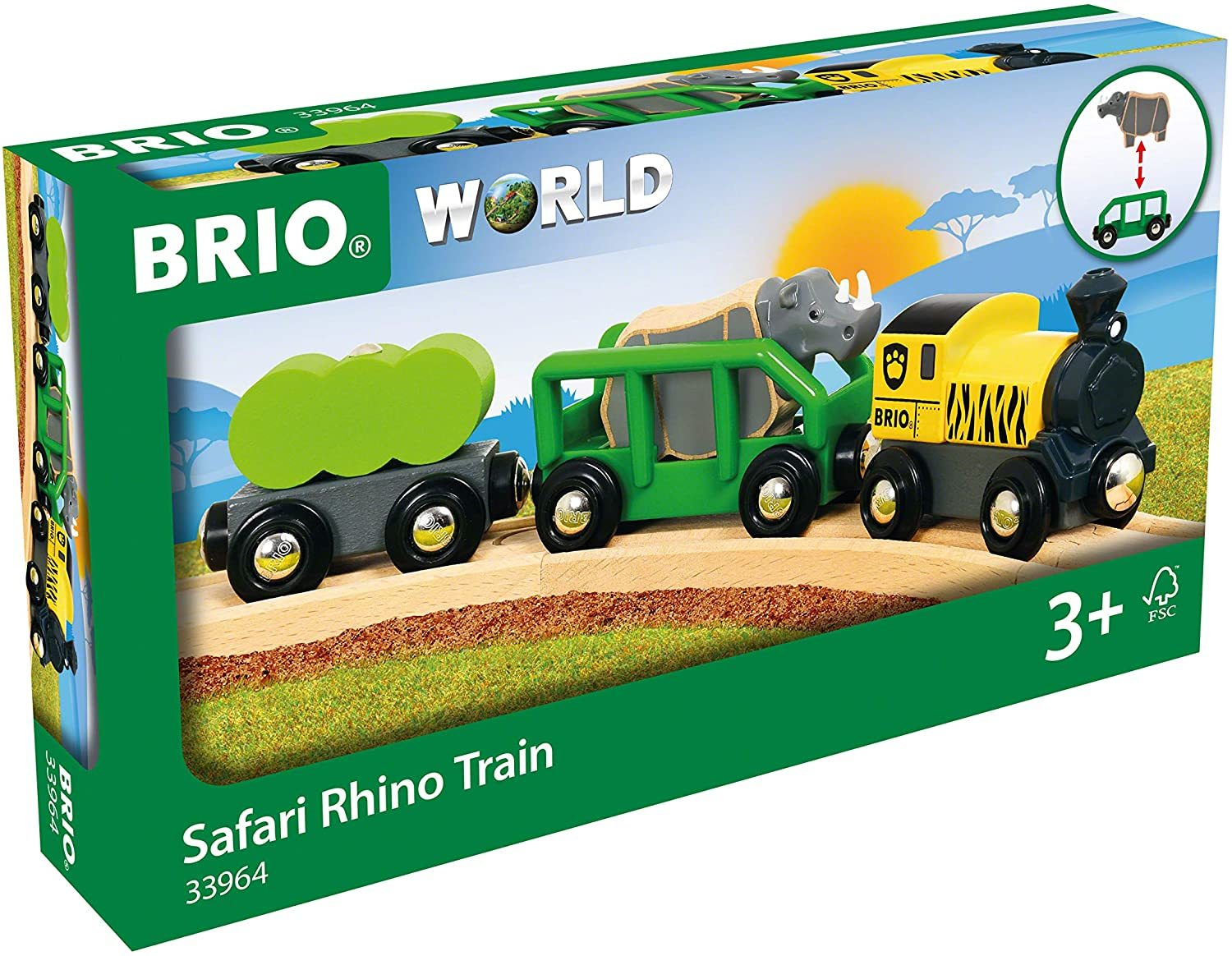 Brio: World - Safari Rhino Train