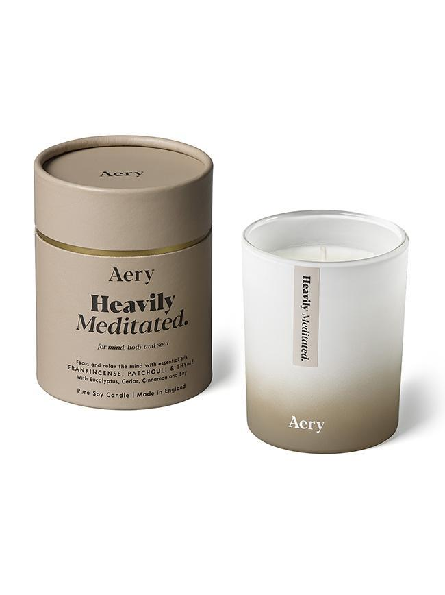 Aromatherapy 200g Soy Candle - Heavily Meditated (Frankincense Patchouli Thyme)