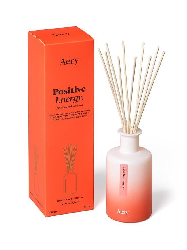 Aromatherapy 200ml Reed Diffuser - Positive Energy (Pink Grapefruit Vetiver Mint)