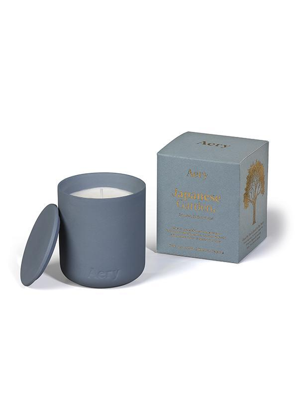 Aery: Fernweh Matte Ceramic Candle with Lid - Japanese Garden