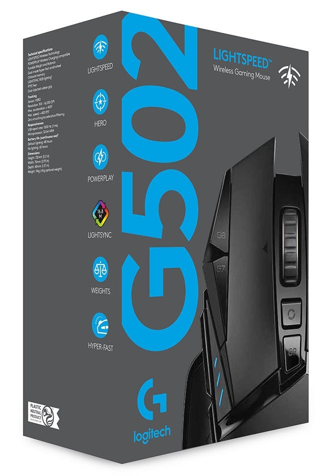 Logitech G502 Lightspeed Wireless RGB Gaming Mouse - PC Games
