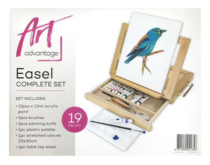 Art Advantage: Complete Easel Set (19 Pieces)