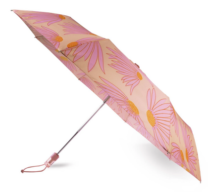 Kate Spade: Travel Umbrella - (Falling Flower)