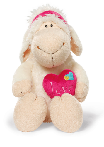 NICI: Jolly Mah (Heart) - White Sheep Plush