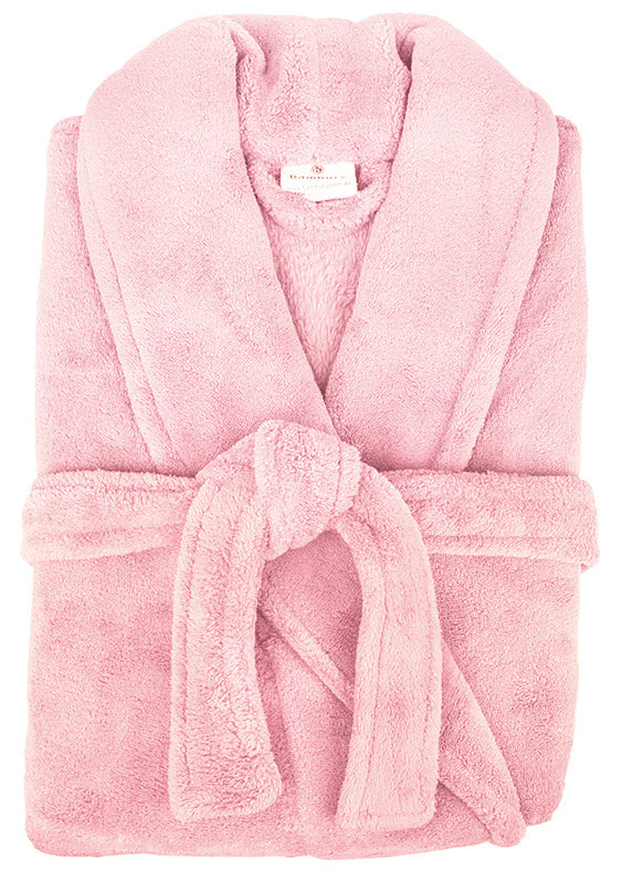 Bambury: Retreat Microplush Robe Pink