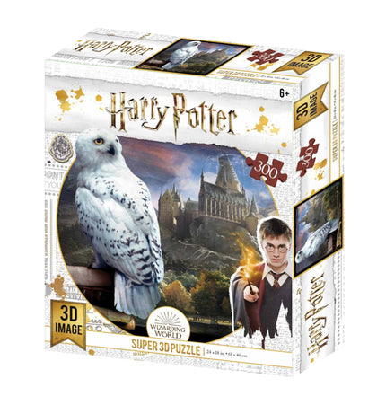 Super 3D: 300-Piece Jigsaw Puzzle - Harry Potter: Hedwig
