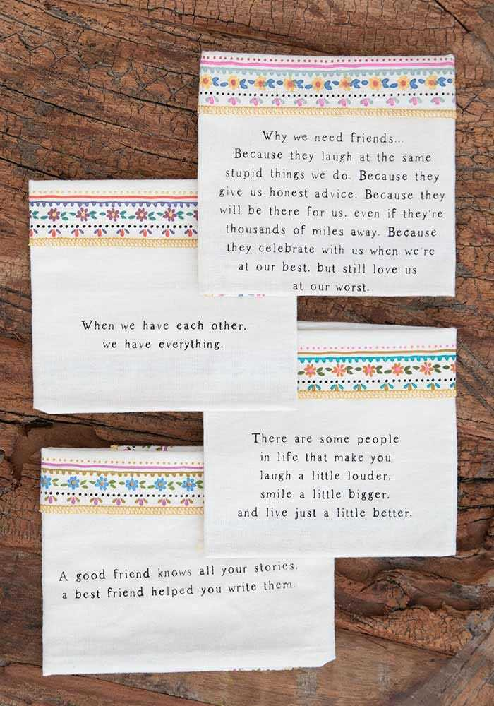 Natural Life: Cotton Napkins - Friends (Set 8)