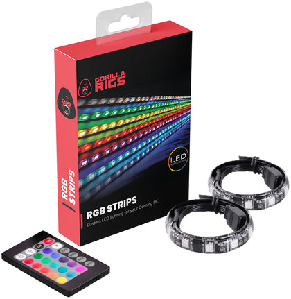 Gorilla Gaming Magnetic RGB PC LED Strip Kit