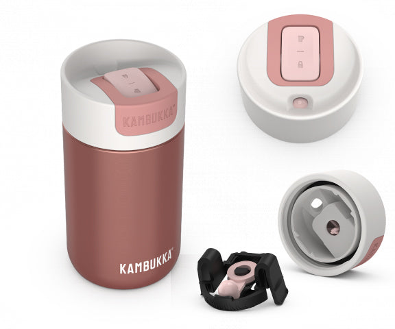 Kambukka: Olympus Switch Lid Travel Mug - Misty Rose (300ml)