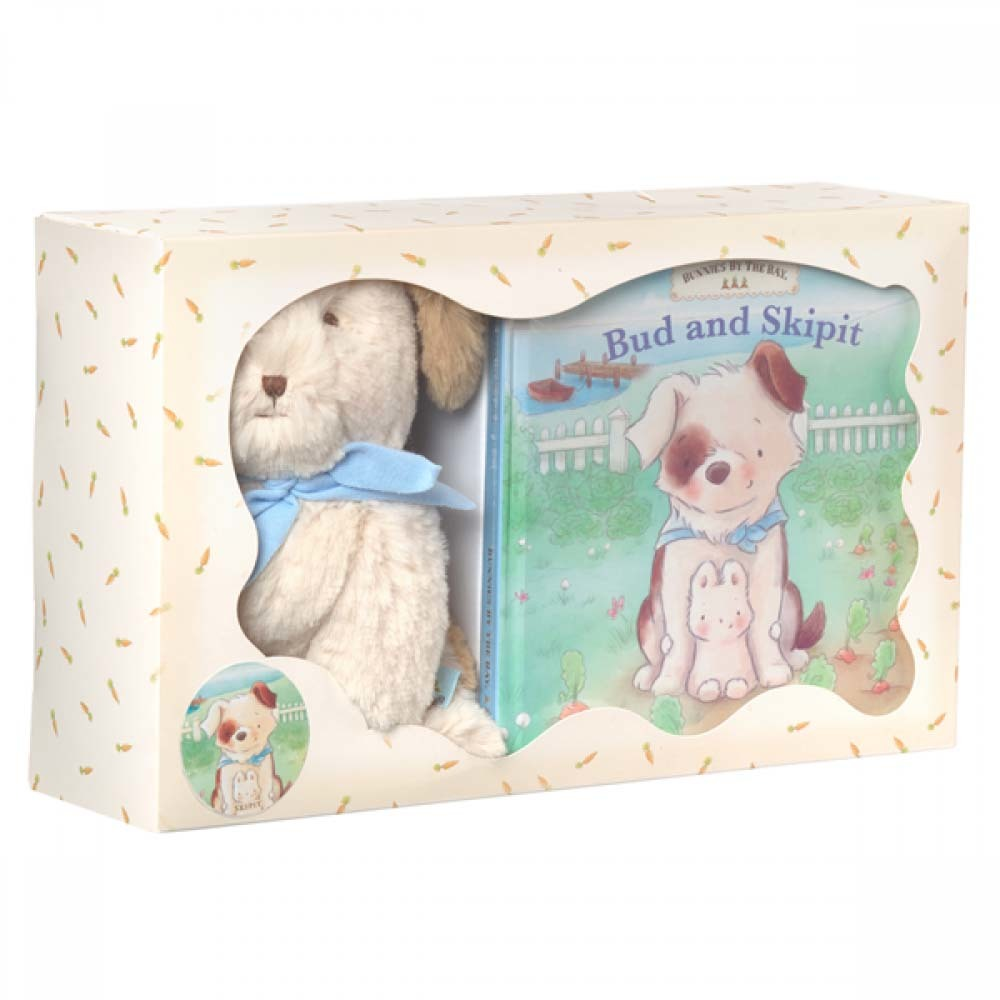 Bunnies By The Bay: Cricket Island Bud and Skipit Book & Skipit Plush Gift Set
