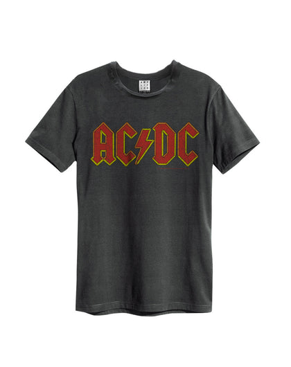 AC/DC Logo Vintage T-Shirt - Charcoal ( Small )