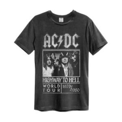 AC/DC Highway To Hell Poster Vintage T-Shirt - Charcoal ( Small )