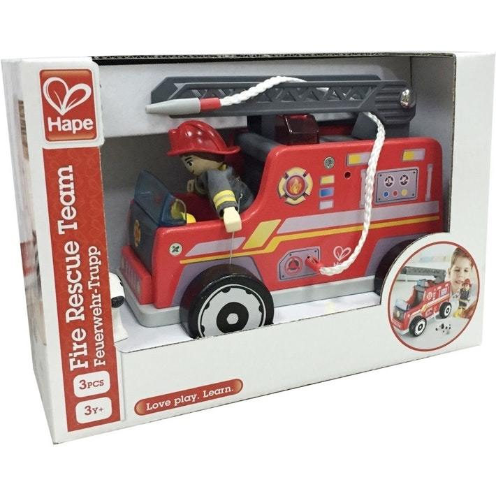 Hape: Fire-Engine - Wooden Playset