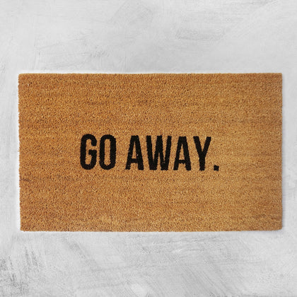 Natural Fibre Doormat - Go Away