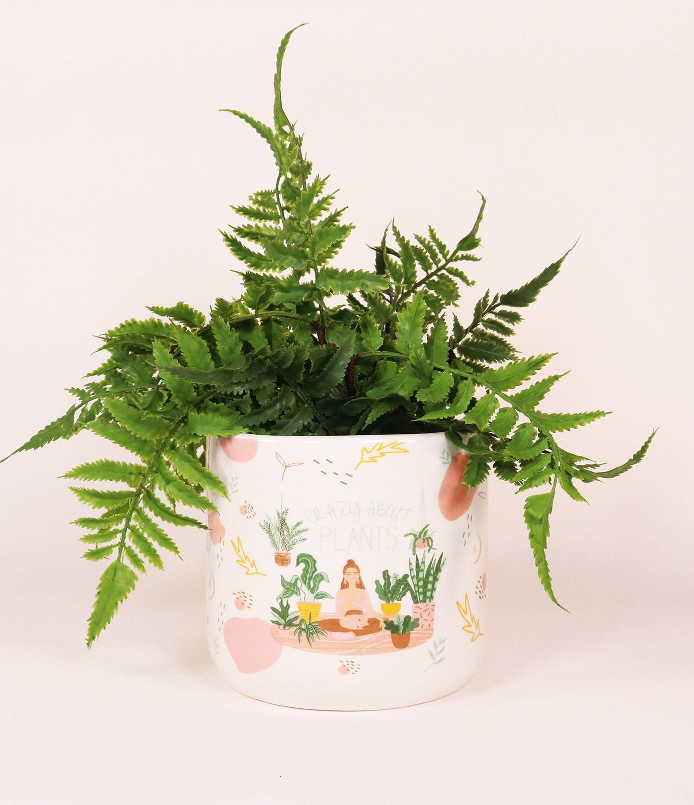 Crazy About Plants Planter - Green/Brown