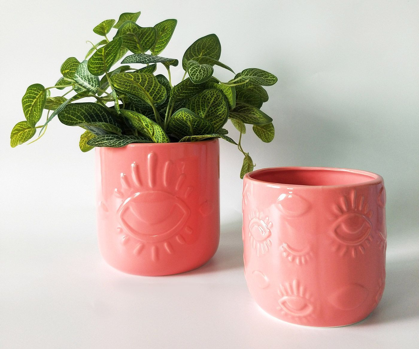 Elemental Eye Planter - Pink (Small/11cm)