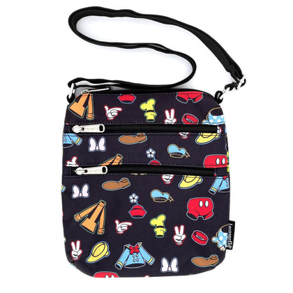 Loungefly: Disney - AOP Outfits Nylon Passport Bag