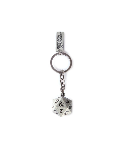 Dungeons & Dragons Metal 3D Dice Keychain