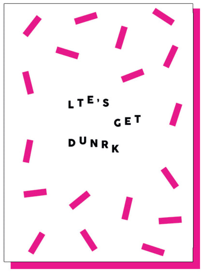 Paper Plane: Let's Get Drunk Card