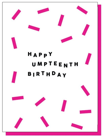 Paper Plane: Happy Umpteenth Birthday Card
