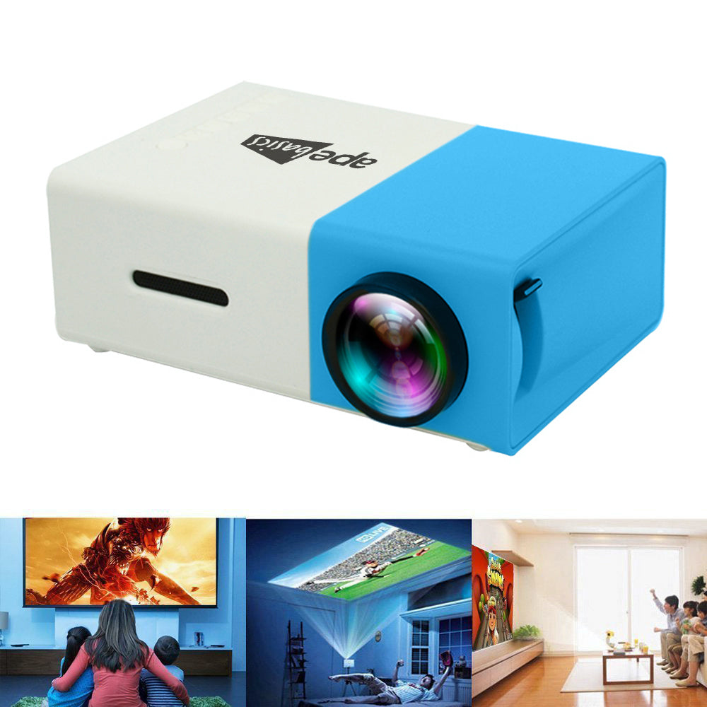 Ape Basics Portable Full Color LED LCD Video Projector - Blue