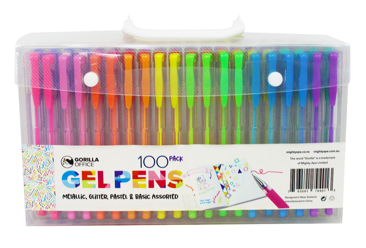 Gorilla Office: Gel Pens - 100 Pack