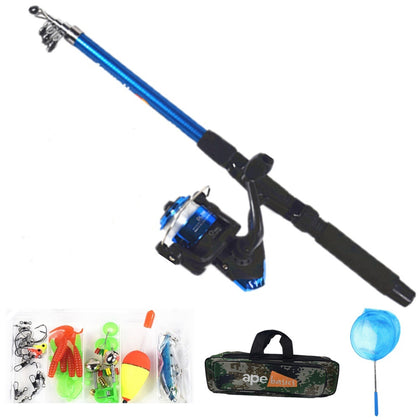 Ape Basics Kids Fishing Rod and Reel Combo Full Kit