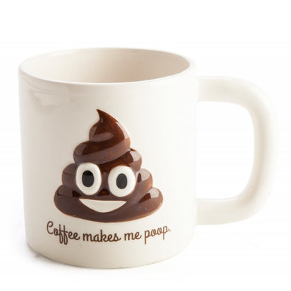 Koolface Mug - Coffee Makes Me Poop