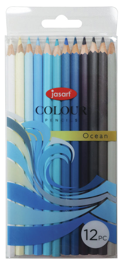Jasart: Studio Pencil - Ocean (Set of 12)