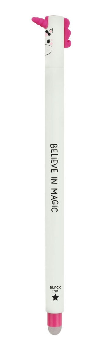 Legami: Erasable Pen - Unicorn (Black)