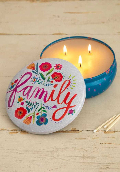 Natural Life: Candle Tin - Family