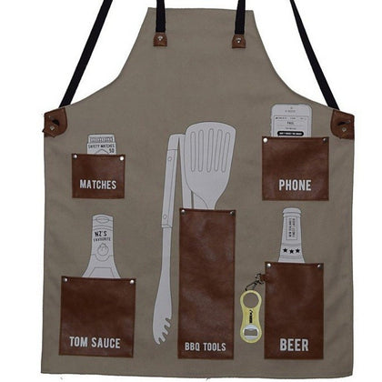 Moana Road: BBQ Apron - Tan