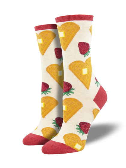Socksmith: Heart Smart Breakfast Womens Socks - Ivory Heather