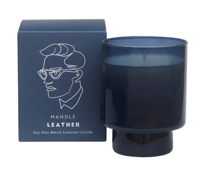 Davis & Waddell: Mandle Scented Candle Jar - Leather
