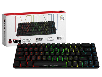 Gorilla Gaming Mini Wired Mechanical Keyboard (Black) - PC Games