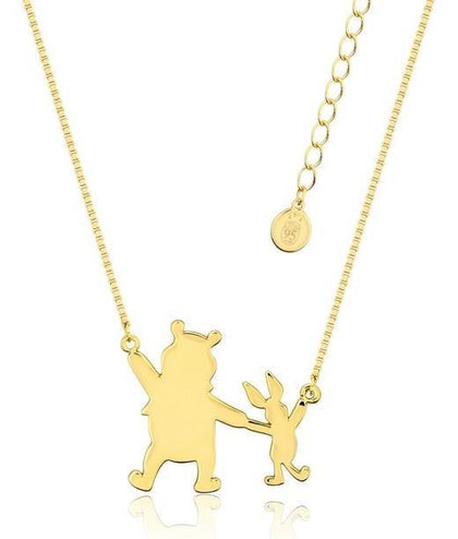 Couture Kingdom: Disney Winnie the Pooh + Piglet Necklace - Gold