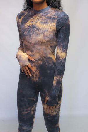 """Switchin' Sides"" Tye-Dye Jumpsuit"