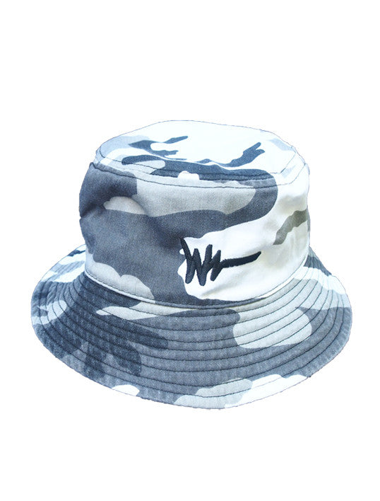 White/Black Camo Bucket Hat