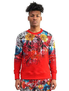 Crimson Rose Fader Crewneck