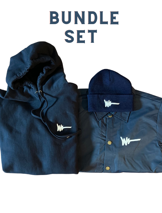 Around The Way Bundle Set - Navy