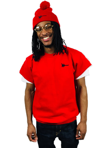 Red Crew Fleece Short-Sleeve