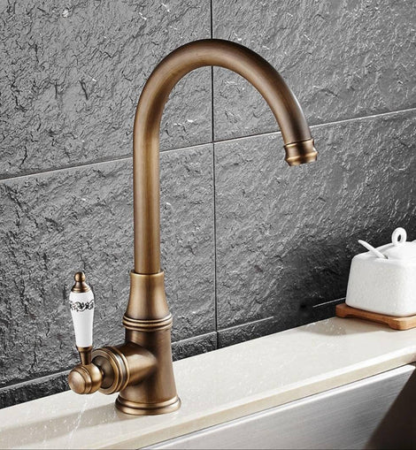 Retro Single Handle Brass Made Antique Kitchen Faucet New And Working Antique Vintage Hub
