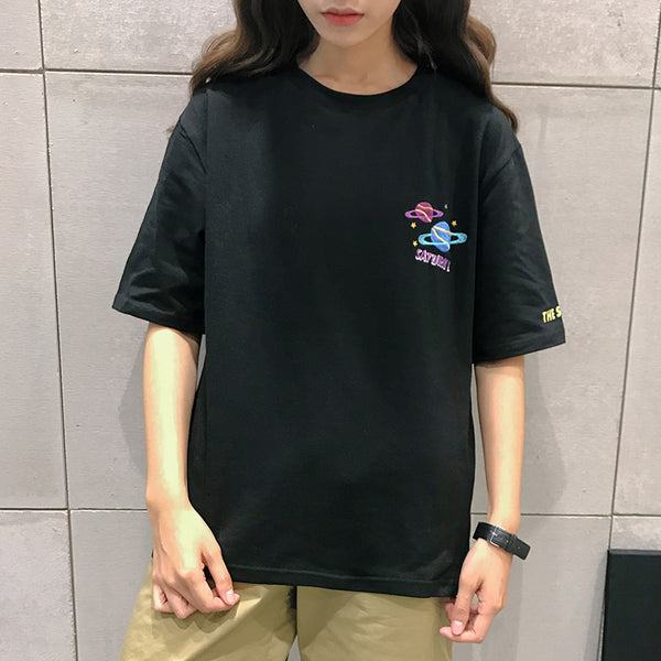 Saturn Short Sleeve Female T-shirt
