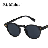 Retro Style Small Oval Frame Sunglasses